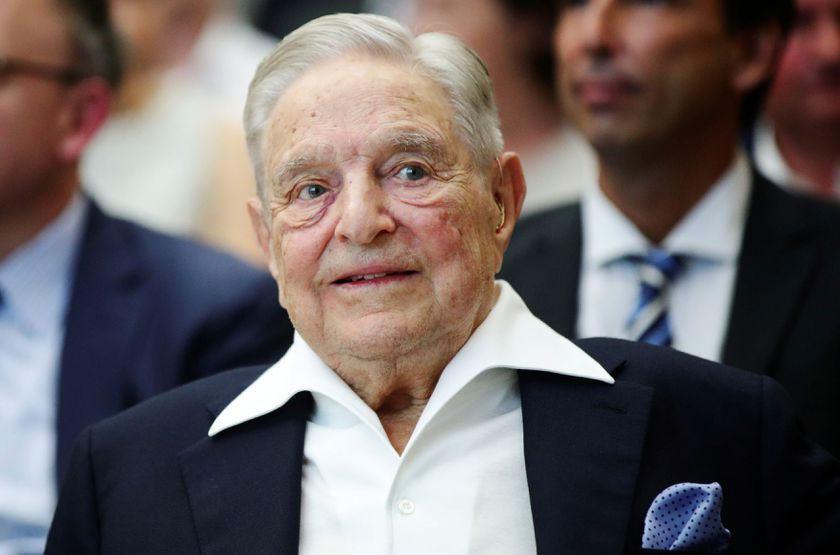 FILE PHOTO: Billionaire investor George Soros is awarded the Schumpeter Prize, an Austrian award for achievement in economics and politics, in Vienna, where the Central European University he funds is opening a new campus after being forced out of his nat