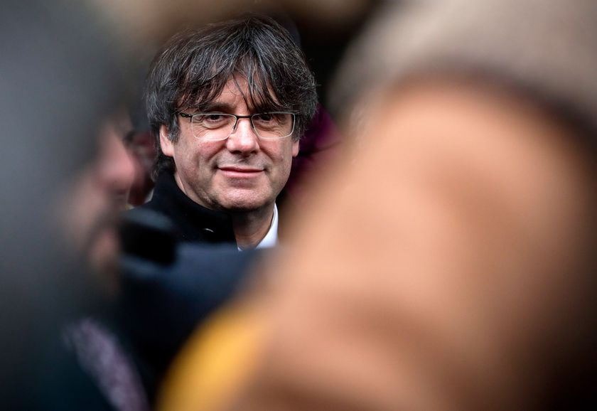 Former Catalan leader at the Chamber of Commerce in Brussels