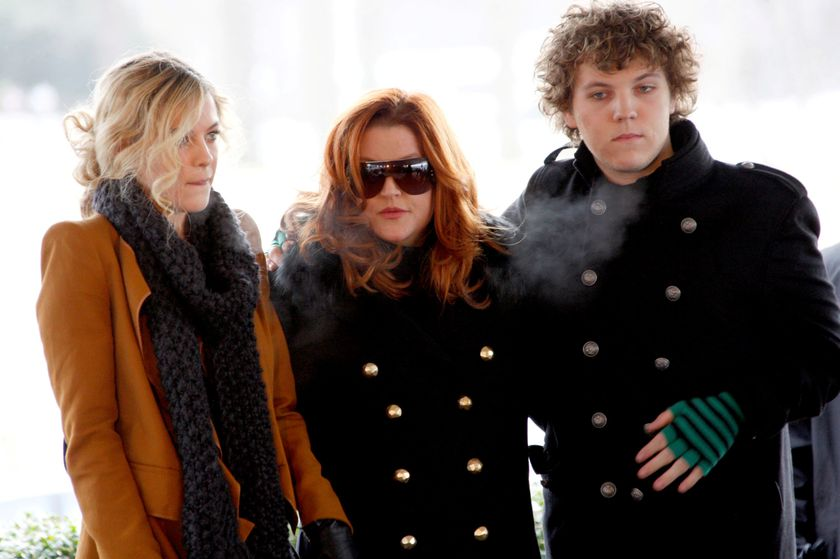 FILE PHOTO: Lisa Marie Presley, with her children Riley and Benjamin Keough, attend the 75th birthday celebration for Elvis Presley in Memphis